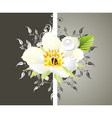 spring card with flower vector image vector image