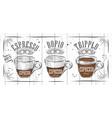 Poster espresso vector image vector image