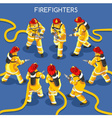 Firefighters 01 People Isometric vector image vector image