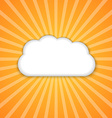 Abstract background with sun and clouds vector image