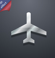 airplane icon symbol 3D style Trendy modern design vector image