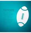 American Football ball flat icon on blue vector image