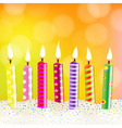 Candles With Bokeh vector image