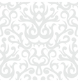 Damask pattern in white and silver vector image