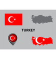 Map of Turkey and symbol vector image