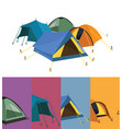tent collection vector image