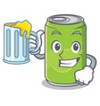 with juice soft drink character cartoon vector image
