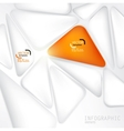 Abstract background with white speech bubble vector image