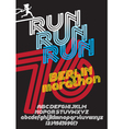 Berlin marathon run poster vector image