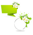 Eco Origami Paper And Frame With Frangipani vector image vector image