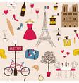 Paris Pattern vector image