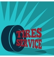 Tire service poster vector image