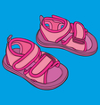 kid summer shoes vector image vector image