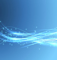 Speed bright swoosh wave blue modern bandwidth vector image vector image