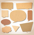 Cardboard speech bubbles set vector image