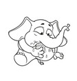 Elephant my foot in my mouth cartoon vector image