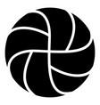 handball icon simple black style vector image