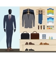Man clothing store vector image