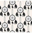 seamless pattern with decorative dream catchers vector image