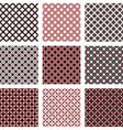 Set of design seamless colorful diagonal patterns vector image