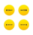 Way out icons Left and right arrows symbols vector image