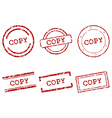 Copy stamps vector image vector image