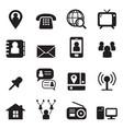 contact icon set vector image