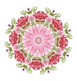 Floral frame circle for your design vector image