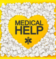 medical help background vector image