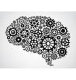 brain gear vector image