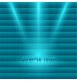 bright light spotlight turquoise mosaic background vector image