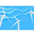 windfarm vector image vector image