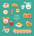 Funny Breakfast set vector image