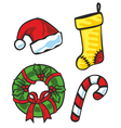 christmas items vector image vector image