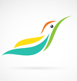 image of an humming bird design on white backgroun vector image