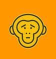 ape sad chimp linear icon vector image