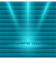 bright light spotlight turquoise mosaic background vector image
