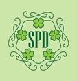 Happy St Patricks Day - beauty card in monogram vector image
