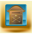 icon with mail box vector image