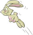 jumping bunny vector image