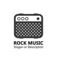logo for music market vector image