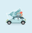 planning summer vacations travel by car vector image