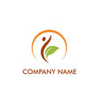 spa wellness eco logo vector image