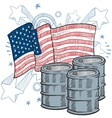doodle americana oil vector image vector image