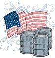 doodle americana oil vector image vector image