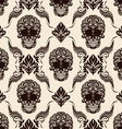 Brown Skull Pattern vector image vector image