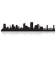 Sacramento USA city skyline silhouette vector image