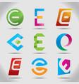 nine abstract icons set vector image