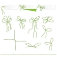 Collection of ribbons ahd bows in twine style vector image