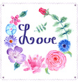 Sketch floral postcard in vintage style vector image